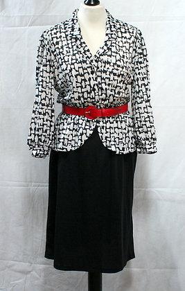 Robe vintage à basques