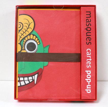 Cartes pop-up Masques