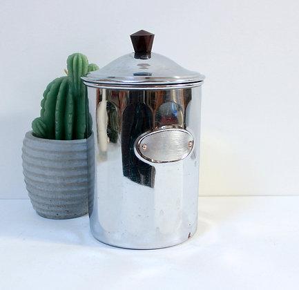 Pot à café en cuivre chromé