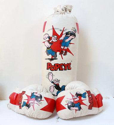 Sac de frappe et gants Popeye vintage