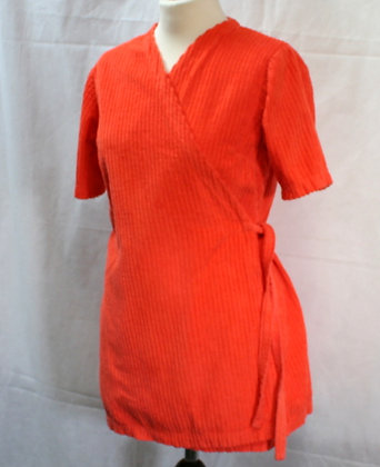 Peignoir vintage 70's velours orange