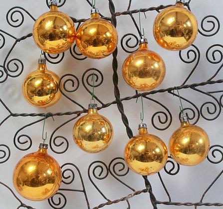 Boules de Noël dorées anciennes