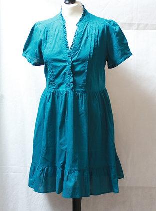 Robe courte bleu canard