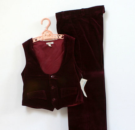 Costume vintage bordeaux