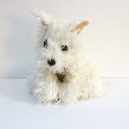 Peluche chien scottish terrier blanc