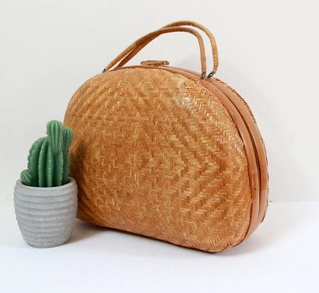 Valisette vintage en bambou