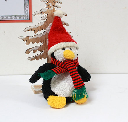 Doudou Pingouin de Noël