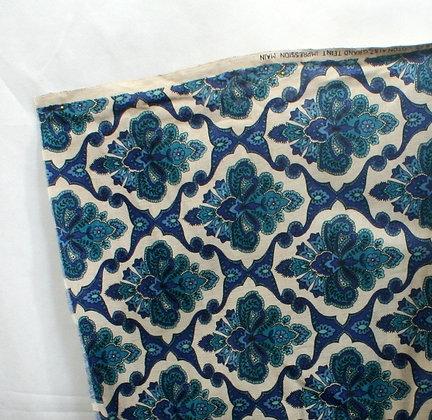 Tissu rétro losanges bleus