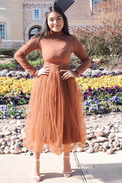 Alice Pleated Tulle Skirt Set
