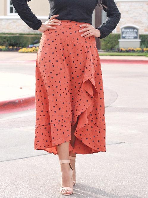 Asymmetrical Print Skirt