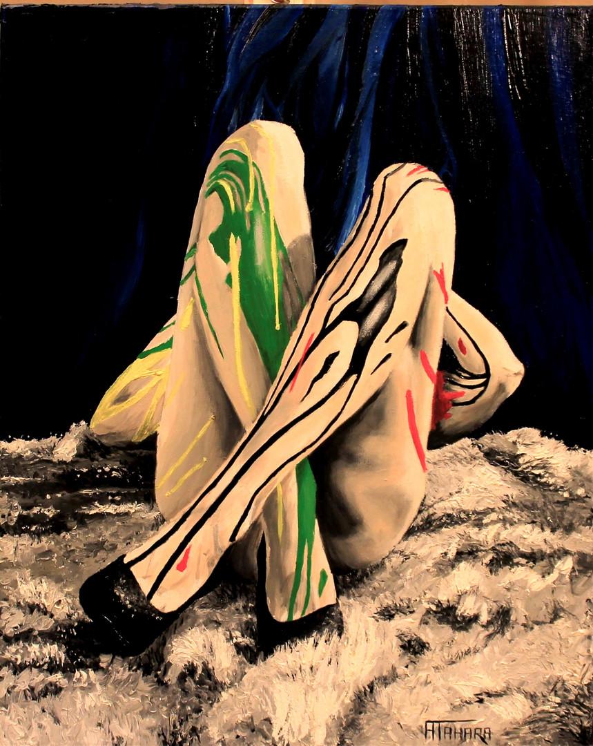 "Artist Resting, 18x24"", Oil, $800"