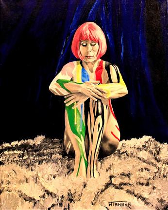 """Self Portrait, 18x24"""", Oil, $800.CAD"""