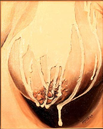 """Artist Breast, 8x10"""", Oil, $500. CAD"""