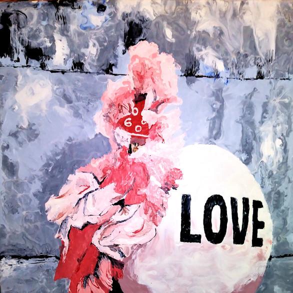 "Love 10 x 12"" 500. Encaustic"
