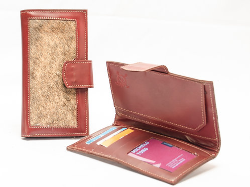 Lady wallet with leather corner with Hair. BILL 67