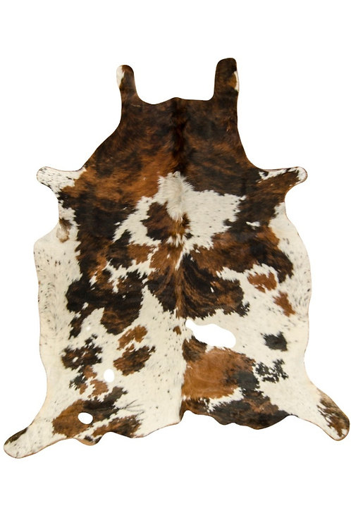Short hair cowhide rug 'Tricolor'. CUE 02B.