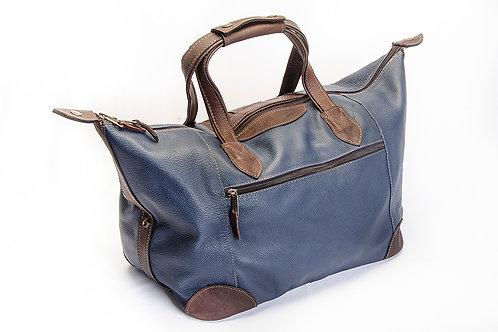 Small Black leather travel bag. BOLS 24.