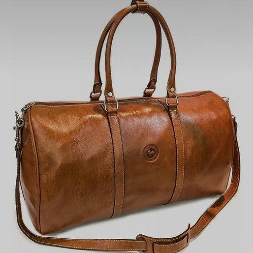 Large Brown leather  travel  bag. BOLS 20.