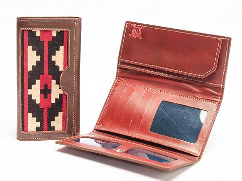 Billetera dama de cuero con cinta Pampa. BILL 62