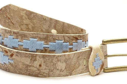 """Rombito"" Light Blue rawhide lady polo belt. CIN 05"