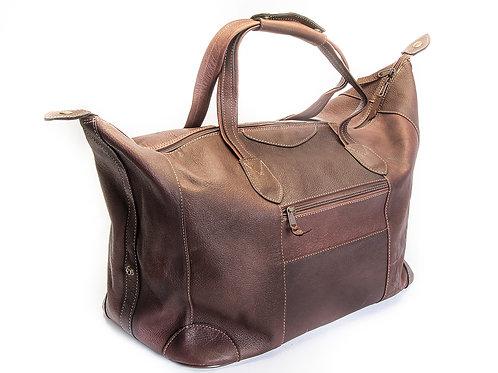 Large Black leather travel  bag. BOLS 21.