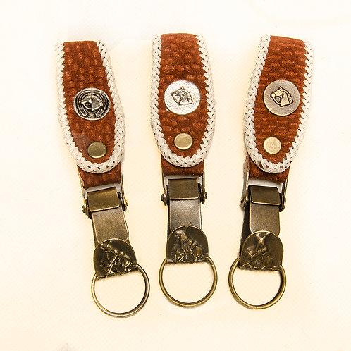 "Key ring  braidered ""Capybara""  LLA 18A"