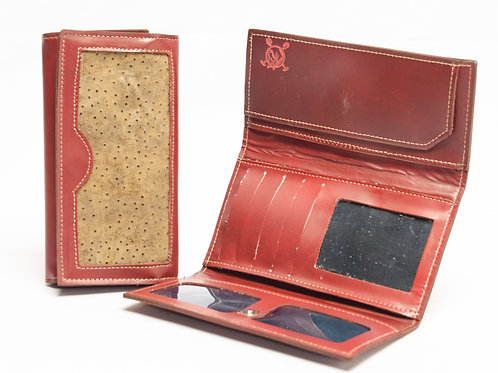 Grained leather lady wallet. BILL 60