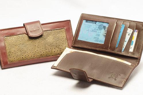 "Ladies"" Grained"" wallet, double-folder design . BILL 66."