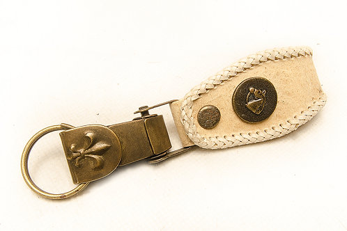 Woven rawhide leather key ring. LLA 18