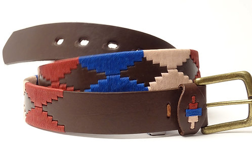 Lady polo embroidered belt. CIN 40.