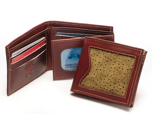 """Men's wallet """"Grained"""", with double card holder. BILL 53."""