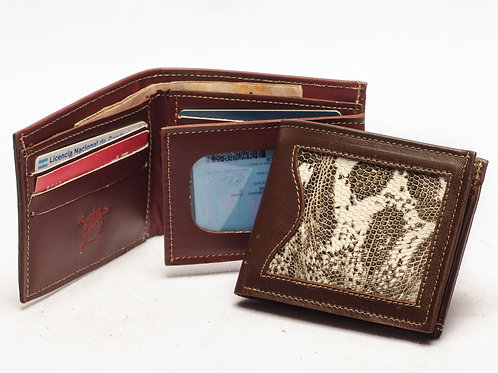 """Men's wallet """"Iguana"""" with double card holder and ID window. BILL 59."""