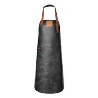 Black leather apron. DEL 02