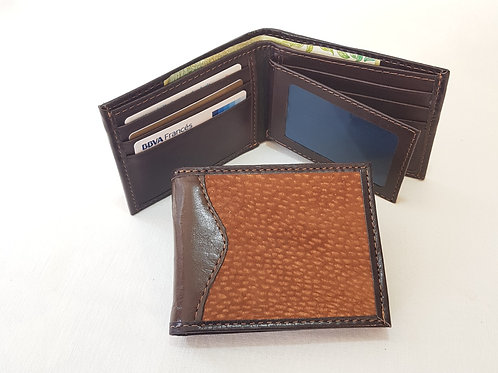 'Capybara' double card holder and side flip ID window Qualitly wallet . BILL 55