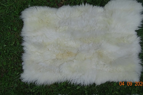 "White bedroom bedside carpet . ""Sheepskin leather "". BAJ 03"