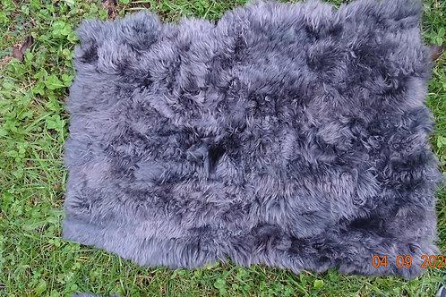 """Grey bedroom bedside carpet . """"Sheepskin leather """". BAJ 04."""