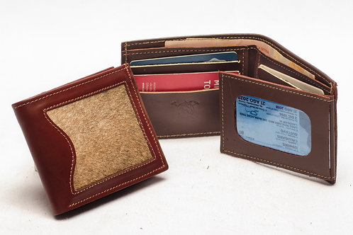 """Men's wallet """"Cowhide"""" with double card holder and ID window. BILL 58."""