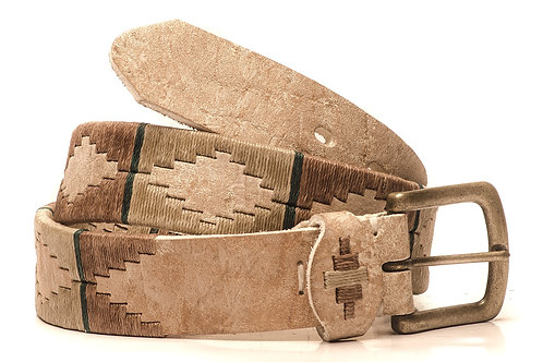 Fully embroidered Rawhide polo belt. CIN 03