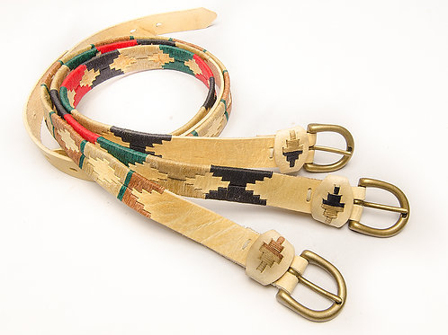 Cinturón Joven Polo Bordado CompletoCrudo. CIN 06