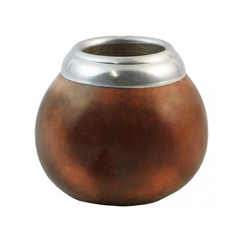 """Small polished """"Calabaza"""" mate gourd. MAT 04."""