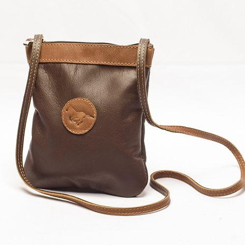 "Small ""Brown"" Crossbody bag. MORR 04."