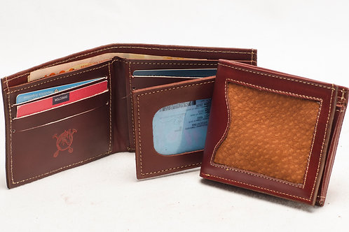 """Men's wallet """"Capybara"""" with double card holder and ID window. BILL 55."""