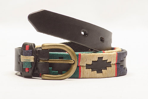 Fully Black embroidered polo belt for kids. CIN 31