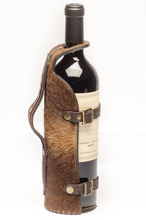 "Cowhide ""Penguin ""wine holder. VIN 02."