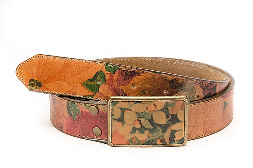 """Lady's belt flowered with """"Chapon """". CIN 08."""