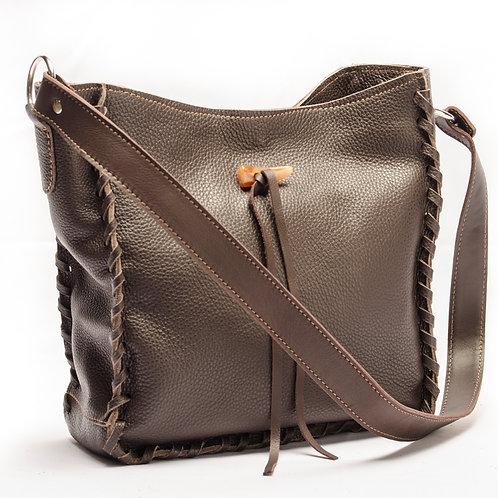 Bolso de cuero marrón. BOLS 05