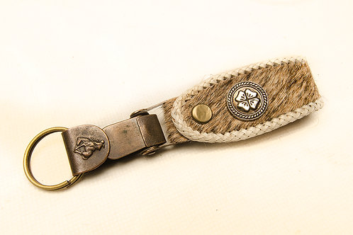 """Key ring """"cowhide"""",woven leather"""". LLA 18b."""