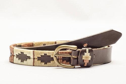 Black Embroidered Polo Belt. CIN 14