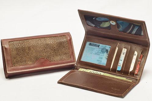 "Ladies"" Grained"" wallet, tri-folder design . BILL 60."