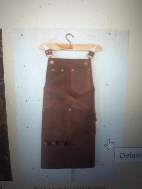 Light brown leather apron. DEL 03